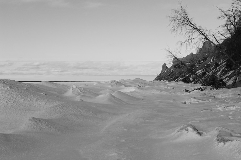 Chimney Bluffs 022110 17 bw DSC_1702