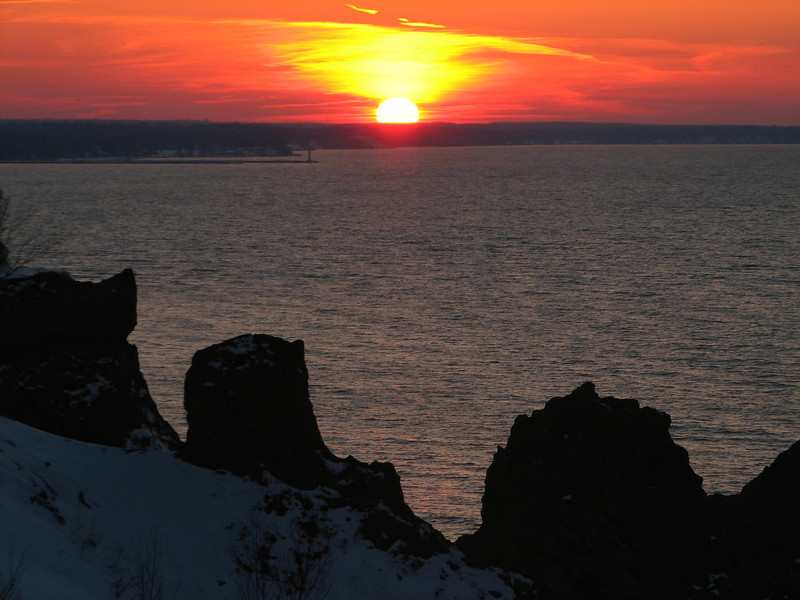 Surreal sunset, Chimney Bluffs NY.