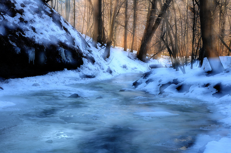 Winter stream #4, Conklin Gully NY.