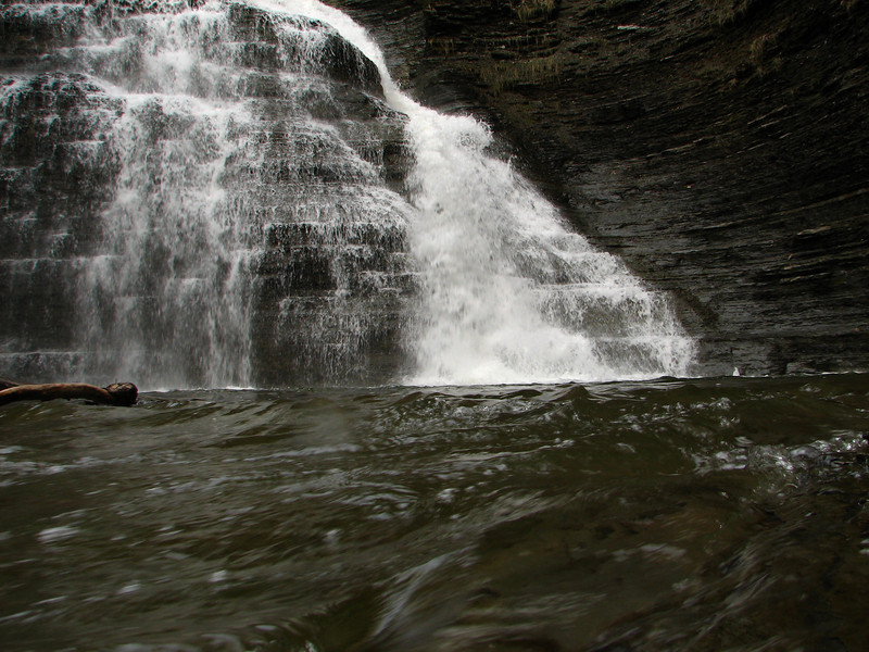 Grimes Glen ,wild and angry.