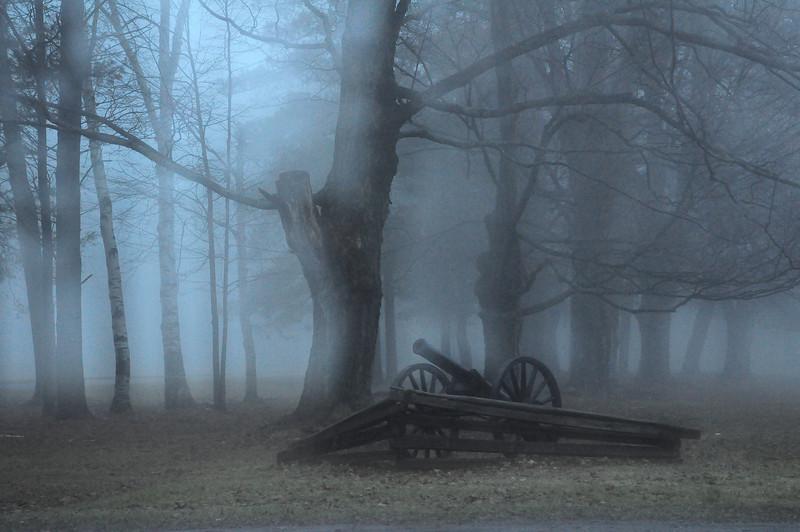 Civil War cannon #2 dreamy, Letchworth State Park NY.