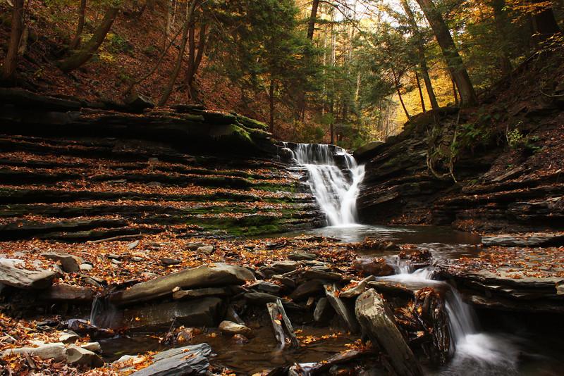 October waterfall #2, Reynolds Gully, Springwater NY.