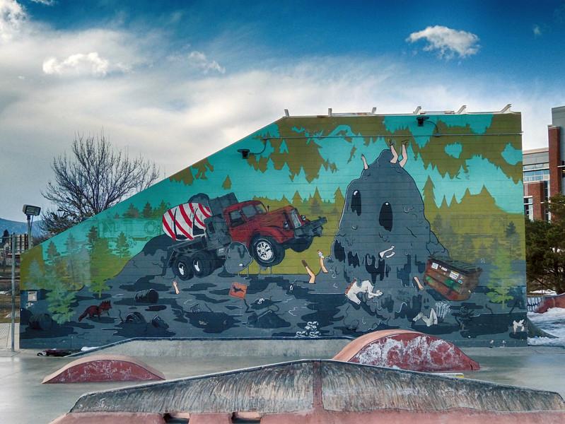 Fort Collins Colorado - Art in Public Places - Since April 1995 - Concrete Monster - Amanda Marie Ploegsma