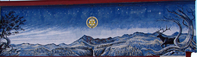 """Mural #10 - The Evening Star<br /> <br /> Romeo Colorado, by Fred Haberlein<br /> <br /> The Murals of Conejos County Driving Tour ... """"through some of the most beautiful pastoral landscapes in the Rocky Mountains. The murals engage in the ages old local tradition of story-telling depicting tales of settlement, folklore, faith, scenic beauty and everyday rural life""""."""
