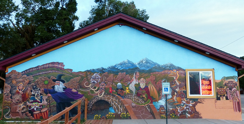 Was somebody maybe, kinda, on a bit of a trip when they created this wall? :)<br /> <br /> Loveland Colorado, Hwy 34, headed to the Rocky Mountain National Park.
