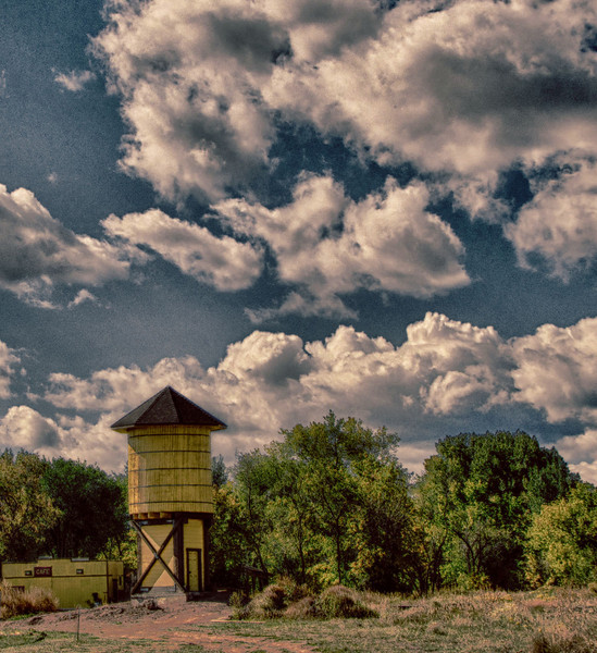 La Veta Colorado, an old railroad tower.