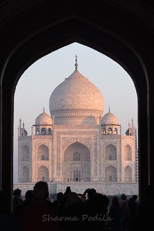 Entry to Taj Mahal, Agra, India