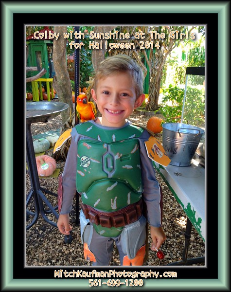 Colby with Sunshine-Halloween 2014 at The Girls