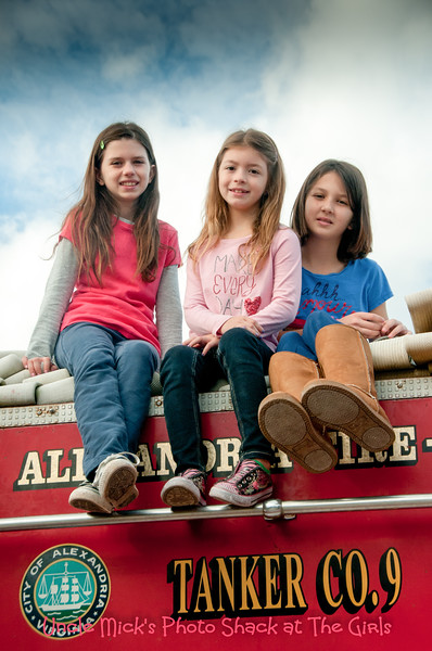 The Girls on the fire truck