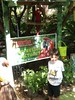 My friend Frankie meets Lucy the Green-wing Macaw at The Girls