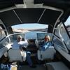 This is Ed and I in the control seating area of his 24' Edge Marine boat.  We were just getting ready to set out on the first day (Sunday) at Lake Powell. Temps were in the mid to high sixties. Perfect. The first few pages of pictures were taken with Al's camera.  The later shots were on my camera.  Just so you know.