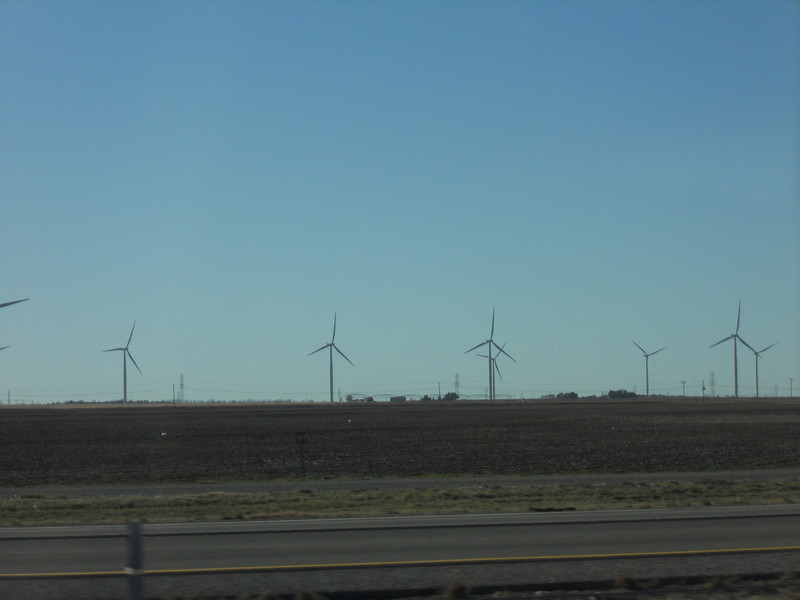 Holy wind mills Bat Man!  I've never seen so many in one place.  They stretched along Route 30 for many, many miles along a ridge from Odessa, Texas to Sweetwater, Texas.  Wow.