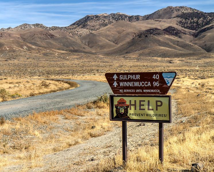 052 Gerlach, Nevada. No services for 96 miles.