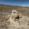 111 Snoopy face painted on a limestone tufa tower, Winnemucca Lake