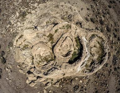 109 Snoopy face painted on a limestone tufa tower, Winnemucca Lake