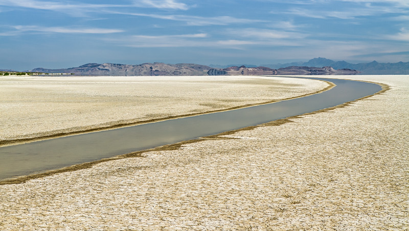 105 Flooded playa road at the 12-mile access point, Black Rock Desert