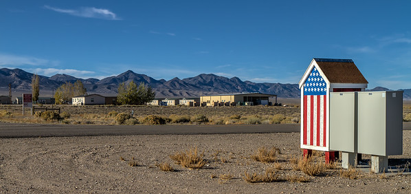 008 Base Camp is located 60 miles east of Tonopah in north central Nye County and was first established for the Project Faultless nuclear testing project. It is now a United States Air Force base used for collecting data for testing programs of the Tonopah Test Range and the Nellis North Range.