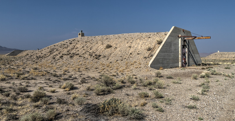 077 Decommissioned bunkers at the Tonopah Army Airfield.