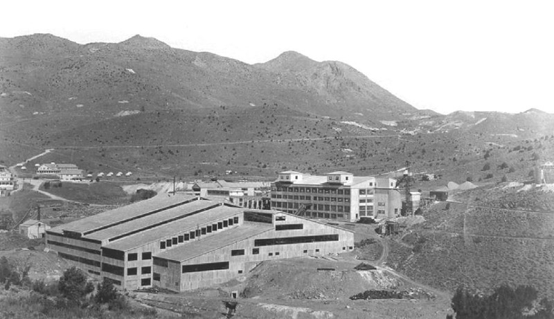 003 Historic photo of the United Comstock Merger Mill. BLM