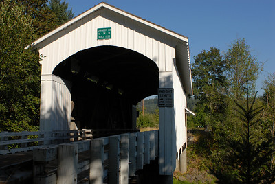 Covered bridge in Marcola.