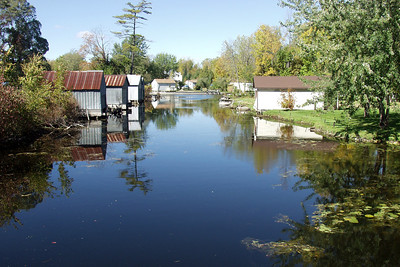 Lake Simcoe boathouses