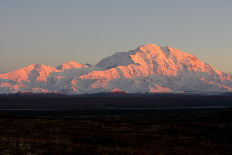 "Mt McKinley, Denali, ""The High One""."