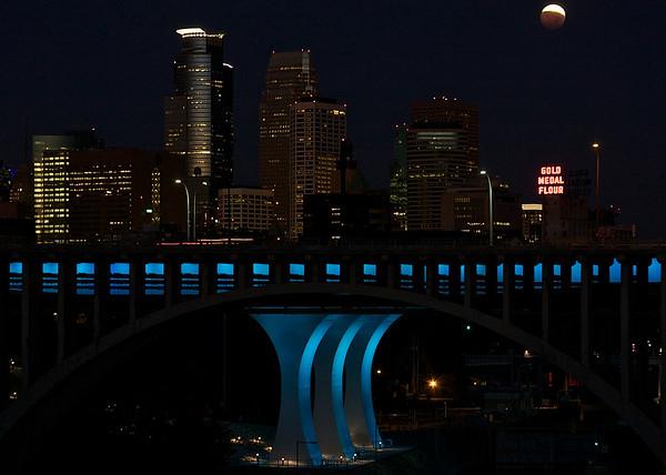 Blood Moon setting on Minneapolis II Landscape