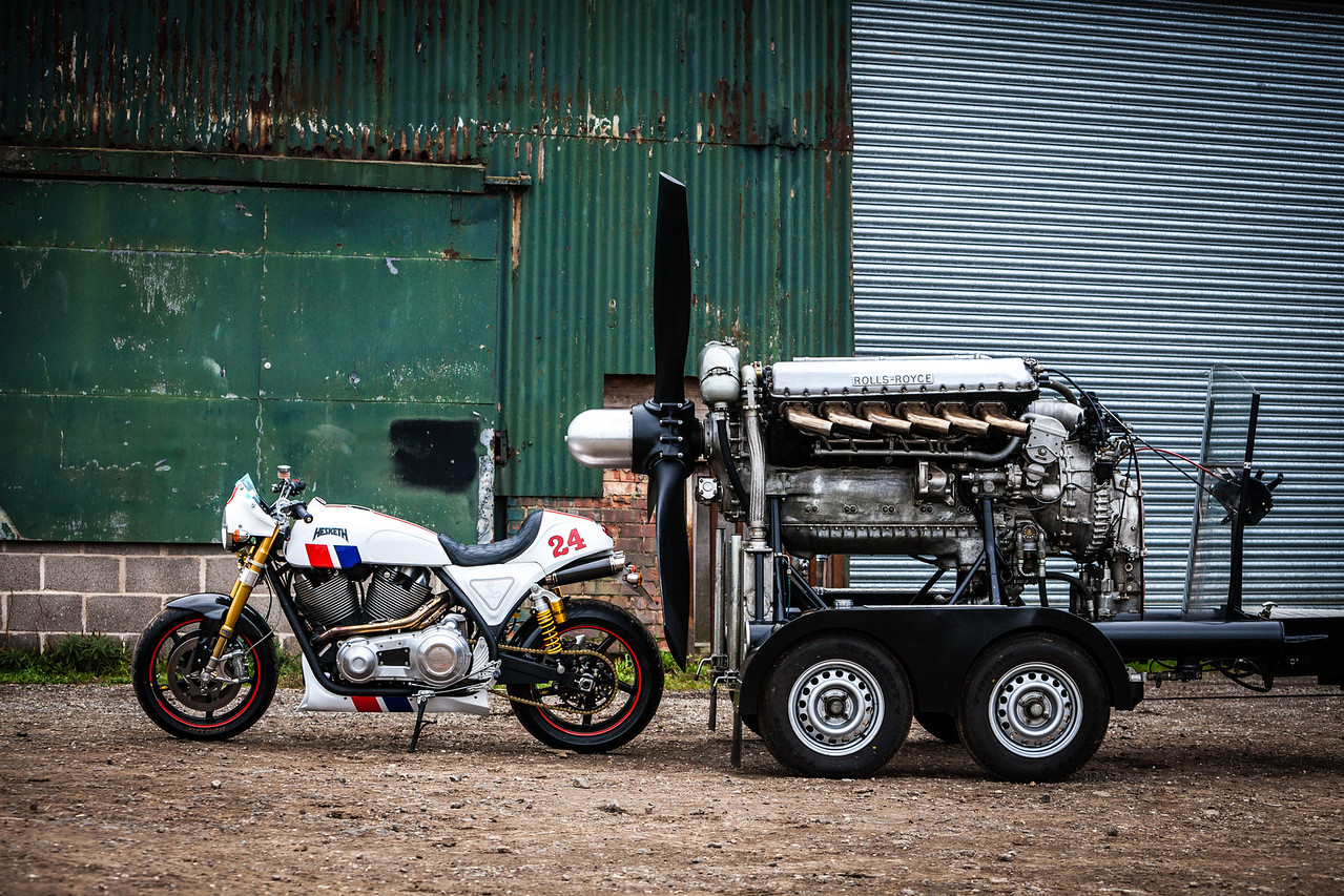 Guy Martin's Merlin meets the Hesketh 24