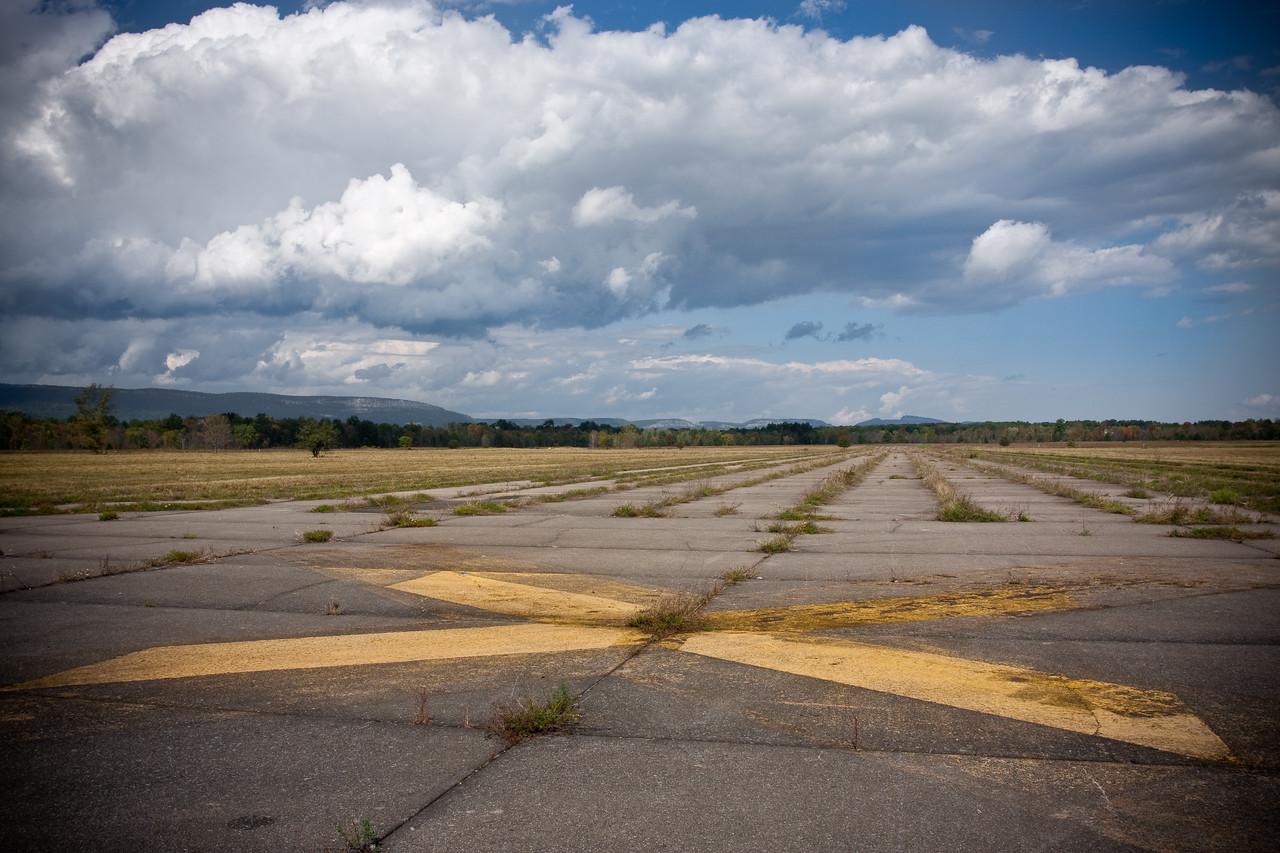 Abandoned runways at the Shawangunk Grasslands