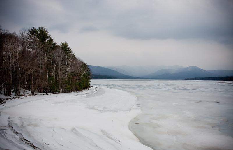 The Ashokan Reservoir in late winter