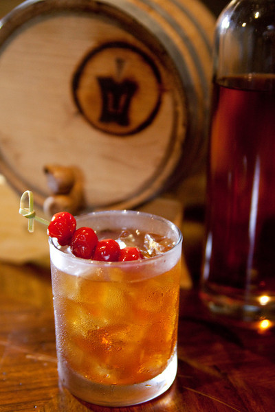 The Manhattan at Branded is made with The Iron Horse's own Barrel 1907 whiskey. Photo by: Christina Waller