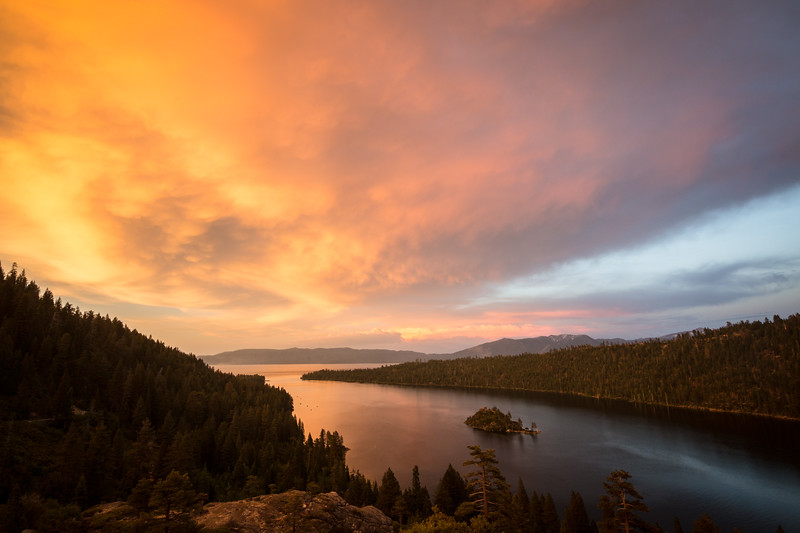 Summer Solstice Sunset Above Emerald Bay
