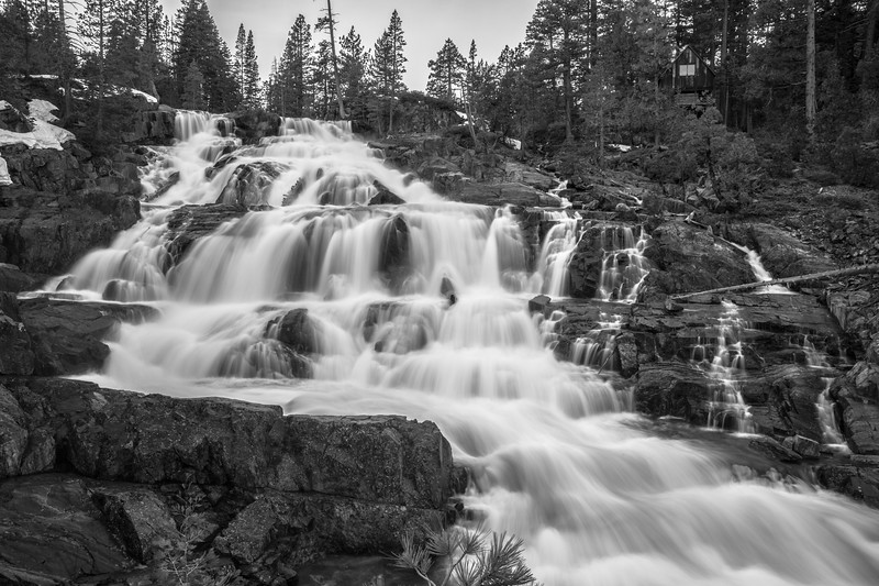 Colorless Glen Alpine Falls