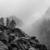 Unseasonably Warm December Storm Moving through Desolation Wilderness