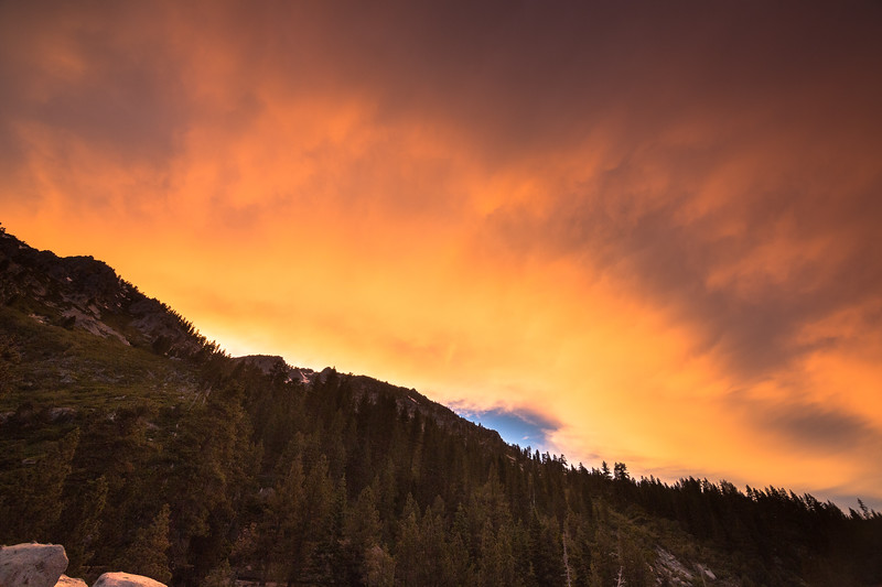 Brilliant Colors Pouring Over the Ridgeline
