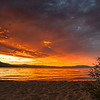 Vibrant Skies Across the Lake