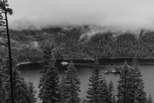 Low Clouds Moving through Emerald Bay
