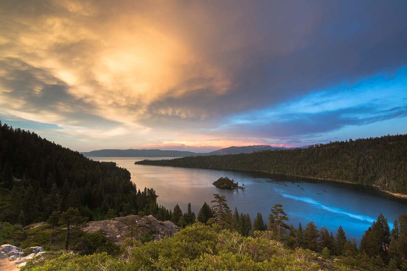 Dynamic Light and Blue Reflections on Emerald Bay