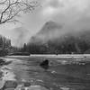 January Rain Across a Mostly Frozen Eagle Lake
