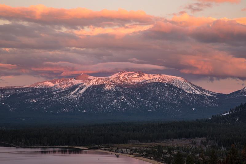 Vibrant Clouds Touching Freel Peak