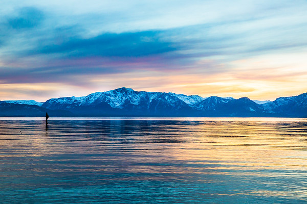 Surreal Light from Nevada Beach to Tallac and the Clouds Above