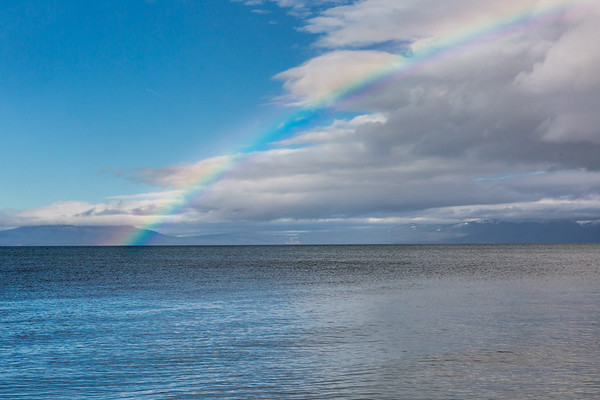 Vibrant Rainbow Hitting the North Shore