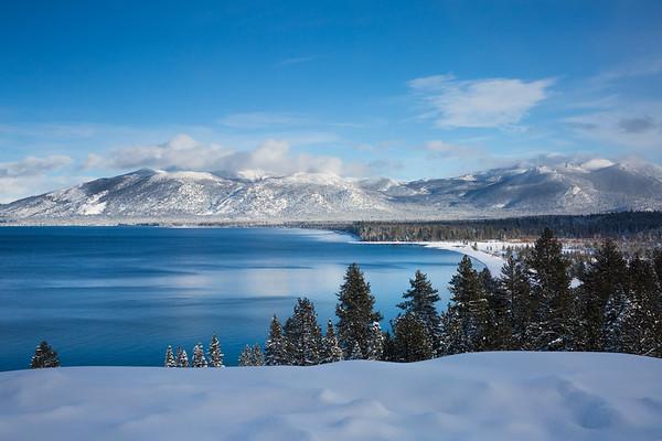 Blue Lake, Blue Winter Skies