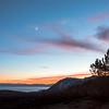 Crescent Moon Fall Sunset