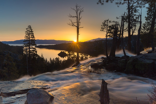 First Rays Across Emerald Bay