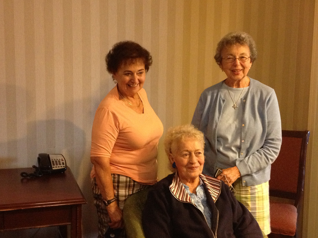 Three lovely ladies - L>R, Joan Tallman, Joanna Lacey and Mary Lacey