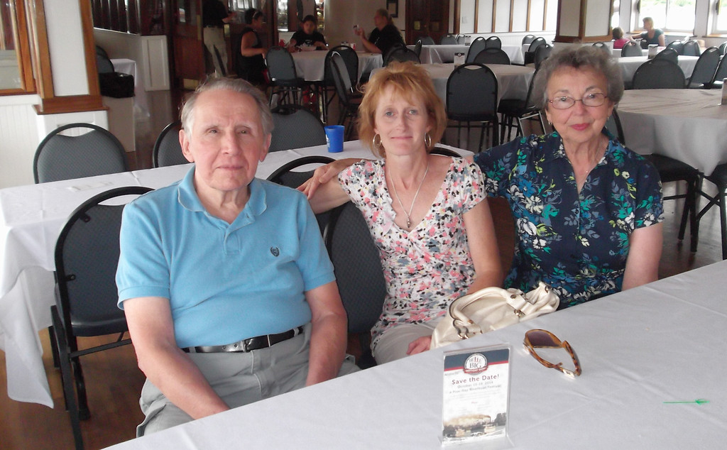 L > R, Jim Lacey, Lisa Gruss and Mary Lacey. Lisa and her husband Jay arranged all accommodations and events for this 2013 Family Reunion.