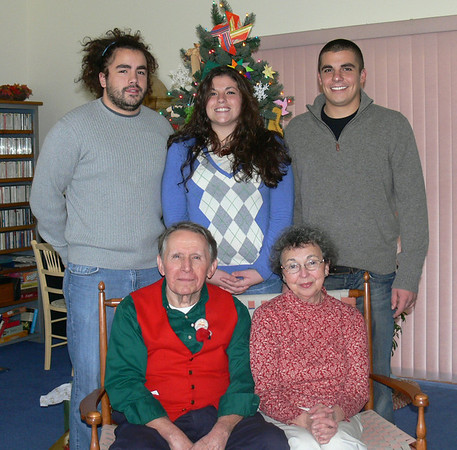 Jim and Mary Lacey (seated)With Grandchildren Randy, Ryan and Rory