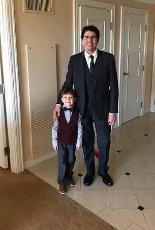 Frank Lacey with his grandson Cyrus Harvey Lacey heading to a Florida Johnson family wedding.