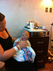 Mom [Jennifer Johnson Lacey] with her first-born Cyrus